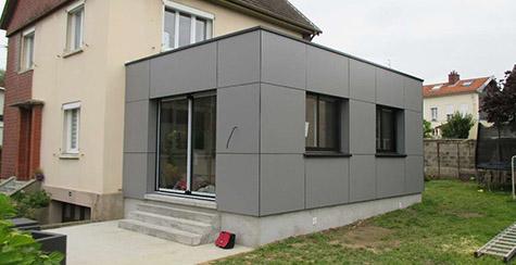 Travaux d 39 agrandissement de maison en bois rouen seine for Agrandissement maison 76